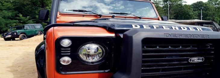 Land Rover Defender on Roads with Hydrogen Powered Cells