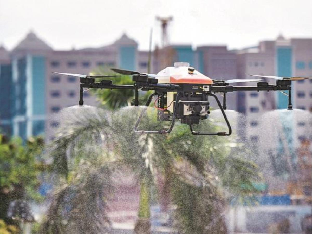 Start-Up Develops Drone to Disinfect Large Event Venues