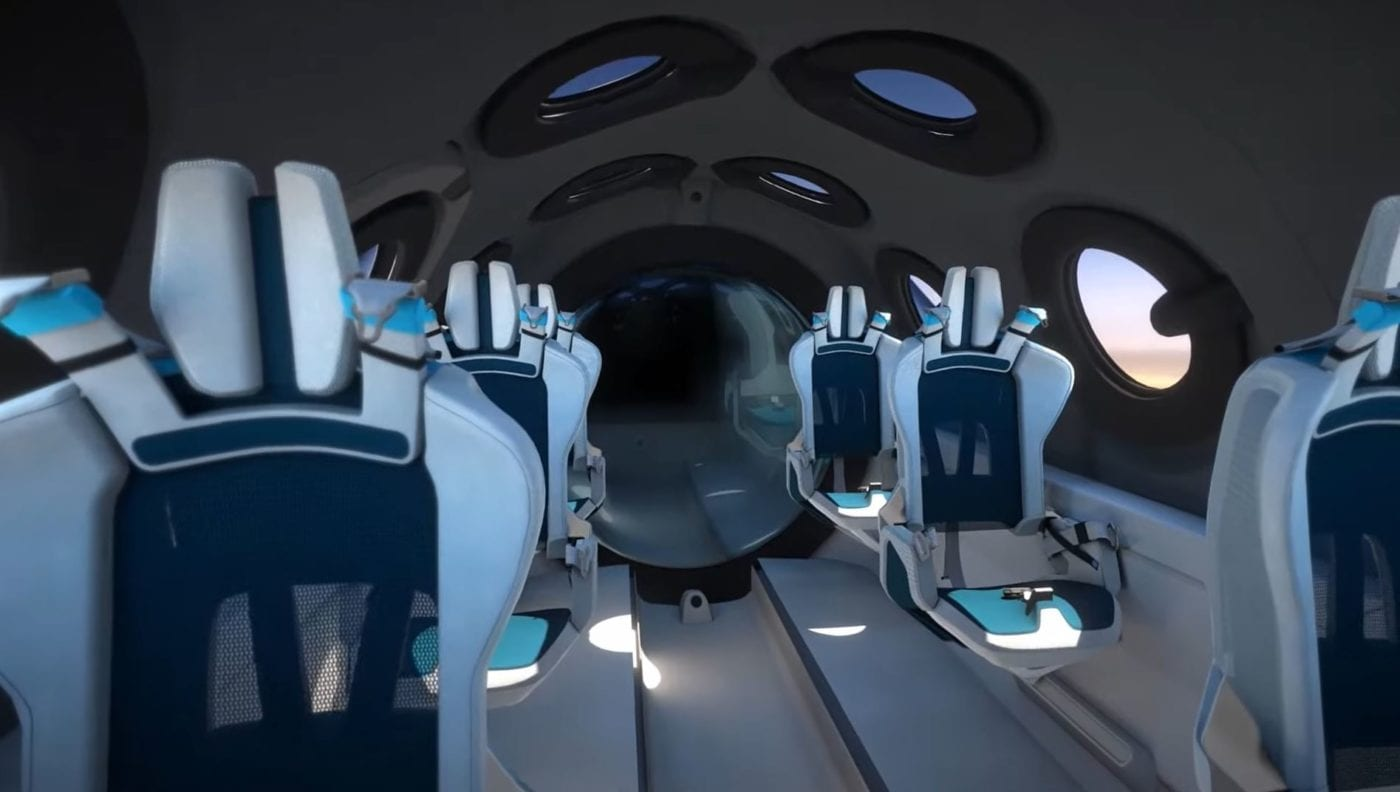 Virgin Galactic Reveals the Interior of its Spacecraft